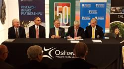 City of Oshawa and education partners signing the Memorandum of Understanding