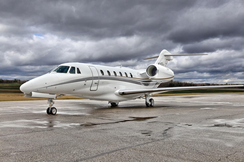 Silver Air Citation X based out of McClellan-Palomar Airport