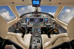 Silver Air Citation X Cockpit