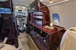 Silver Air Citation X Galley