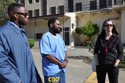 Antwan Williams, Earlonne Woods, and Nigel Poor at San Quentin