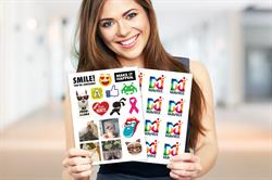 CustomStickerPages: StickerYou's online technology allows customers to order multiple designs per page.