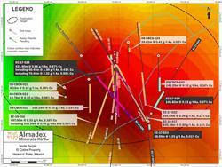 El Cobre Project Norte Target Plan Map