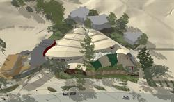 Architectural rendering of the Festival of Arts new facility. Credit: BAUER Architecture