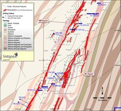 Figure 2 - Detail Plan of Recent Drilling at MM and MC Deposits