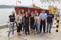 Alexandra Cousteau along with researchers from Oceana Canada and Fisheries and Oceans Canada prepare