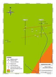 Figure 1: Okalla East Drill Hole Location Map