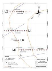 Figure 2: Okalla West Drill Hole Location Map