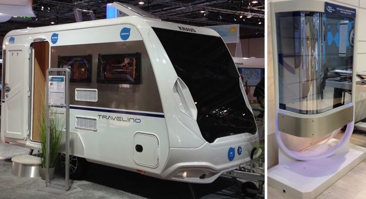 Knaus caravan and Lippert demonstrator using SPD-SmartGlass technology from Research Frontiers
