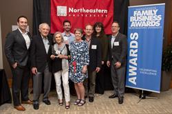 2017 Massachusetts Family Business Awards Winner, ScrubaDub and Paisner Family. From left to right: Mathew Paisner, Marshall Paisner, Elaine Paisner, Alex Paisner,  Beth Paisner, Bob Paisner, Jen Barroso, and Danny Paisner.