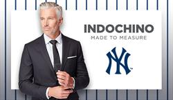 As a proud sponsor, INDOCHINO will offer New York Yankees fans an exclusive price on made to measure suits
