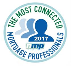 """National Mortgage Professional Magazine """"Most Connected"""" Logo"""
