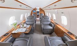 Silver Air Challenger 300 Interior