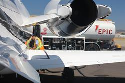 EPIC Fuels refueler topping off a business jet