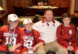 Over 13 seasons with the kids of Special Spectators - Former University of Oklahoma Coach Bob Stoops Joins the Board of Directors for the Organization