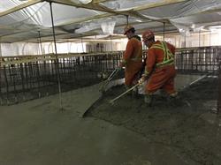 Picture 4: Hoist Building Construction: Main concrete slab pour