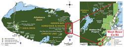 Location of the West Bear Cobalt-Nickel Prospect