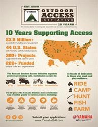Yamaha Outdoor Access Initiative 10 Years of Supporting Access