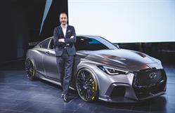 INFINITI executive design director, Canadian, Karim Habib introduced the Project Black S - a radical reimagination of the INFINITI Q60 coupe.