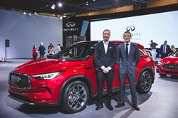 The new INFINITI QX50 goes on sale in Canada in June 2018. Pictured from left to right, INFINITI executive design director, Karim Habib, and managing director of INFINITI Canada, Adam Paterson.